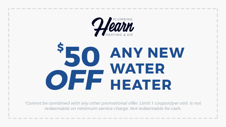 $50 of any new water heater